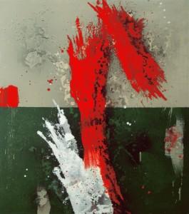 I. Calle 35. Máscaras de la Mirada. 2005. Óleo sobre lienzo. 152,5 x 122 cm.