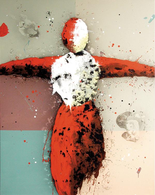 III. Sigue a tu alma. Serie Post-Supremática. 2005. Óleo sobre lienzo. 152,5 x 122 cm.