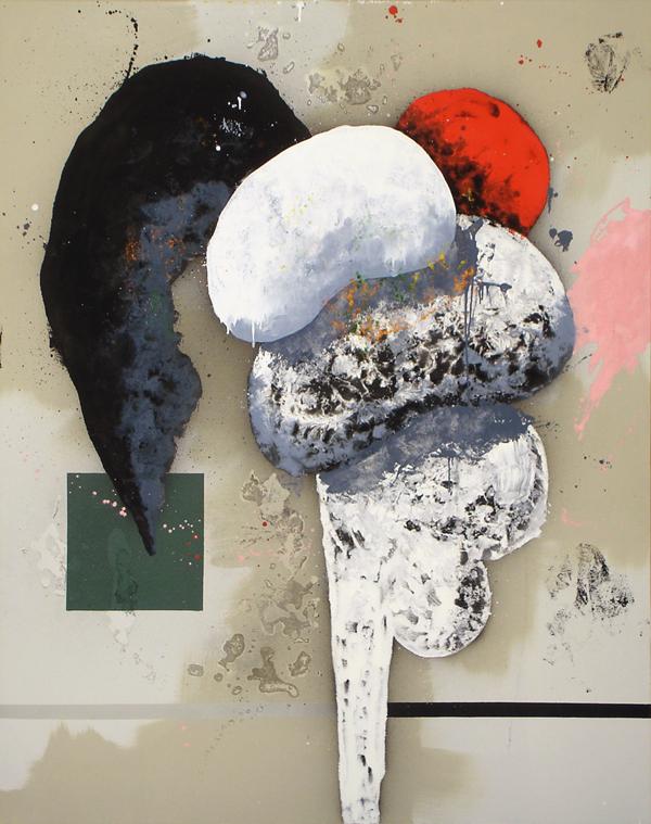 IX. Un día de cacachuetes. Serie Crazy Paintings. 2006. Óleo sobre lienzo. 152,5 x122 cm.