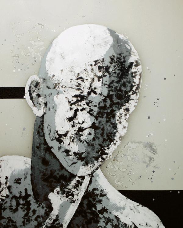 V. Cabeza gris. Seria Cabezas de Rorschach II. 2005. Óleo sobre lienzo. 152 ,5 x 122 cm.
