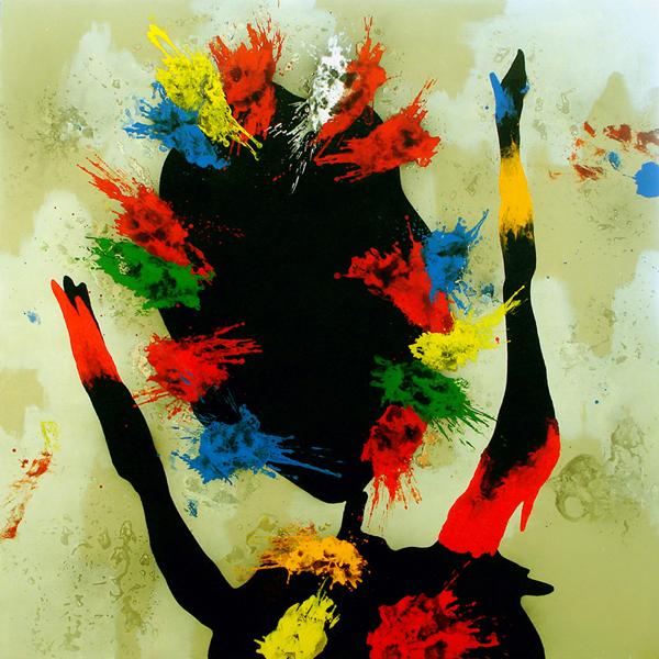 VI. Mironeando. Suite Divertimentos Appeleanos. 2006. Óleo sobre lienzo. 200 x 200 cm.