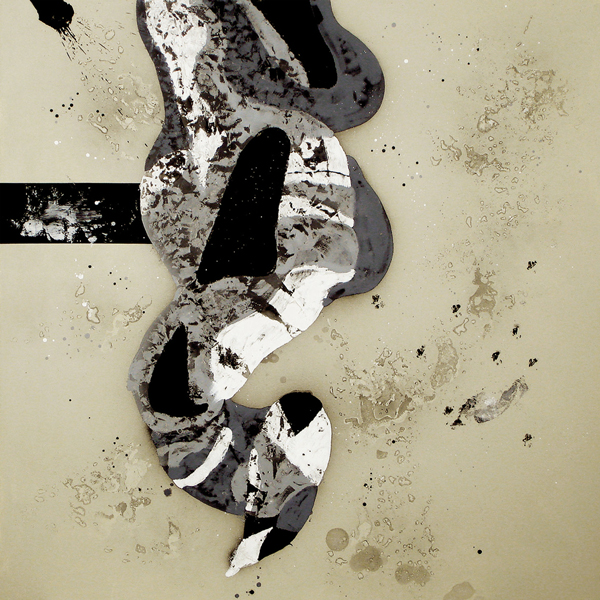 X. Perro Colgado. Serie La Guardia Place. 2006. Óleo sobre lienzo. 200 x 200 cm.