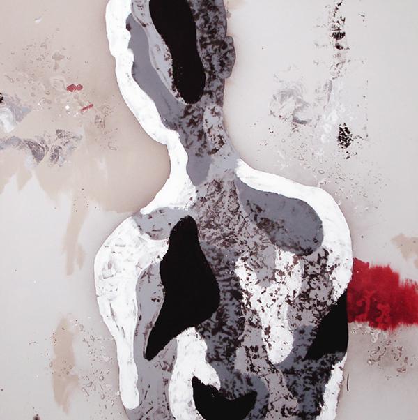 XII. Figura adolescente. Serie La Guardia Place. 2006. Óleo sobre lienzo. 200 x 200 cm.