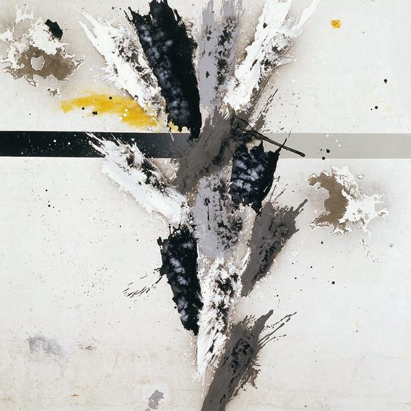 XIII. Tríptico de la tradición española. Serie Máscaras de la Mirada. 2006. Óleo sobre lona plástica. 200 x 200 cm c/u