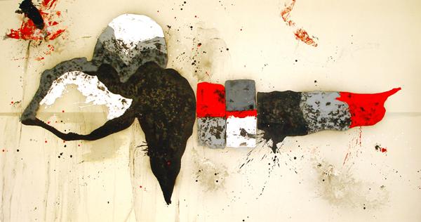 XIV. Regalo de cumpleaños. Serie La Guardia Place.2006. Óleo sobre lienzo. 200 x 380 cm.