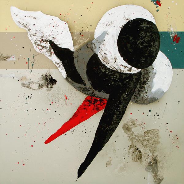 XIX. Pareja copulando. Serie La Guardia Place. 2007. Óleo sobre lienzo. 200 x 200 cm.