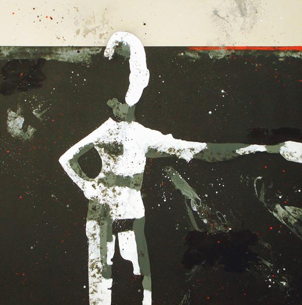 XVII. Fosfeno de figura. Serie La Guardia Place. 2007. Óleo sobre lienzo. 200 X 200 cm.