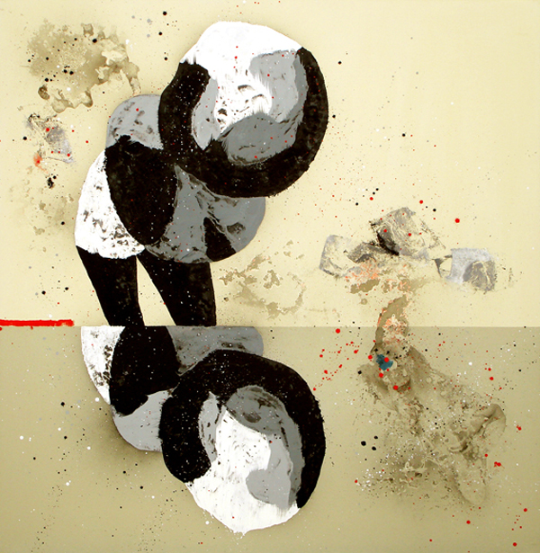 XX. Narciso. Serie La Guardia Place. 2007. Óleo sobre lienzo. 200 x 200 cm.