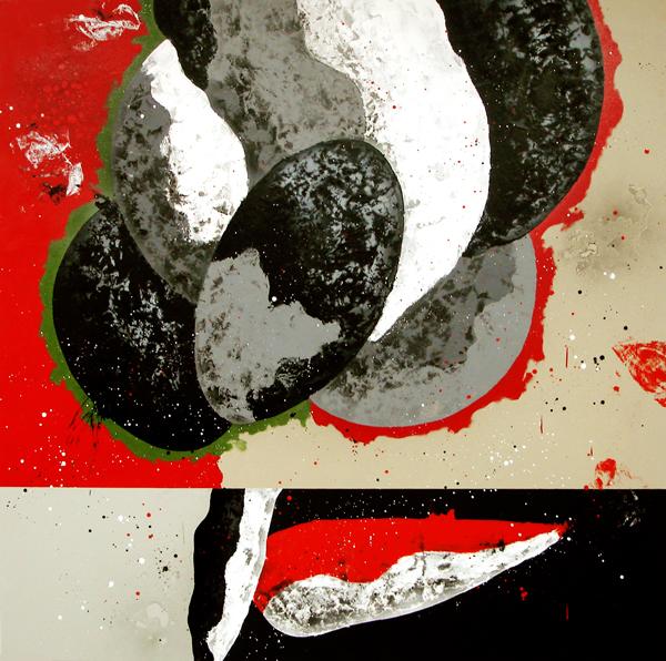 XXIII. El último minuto. Serie La Guardia Place. 2008. Óleo sobre lienzo. 200 x 200 cm.