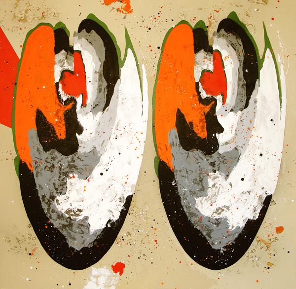 XXVII. Blooody Mary duplicado. Serie La Guardia Place. 2007. Óleo sobre lienzo. 200 x 200 cm.